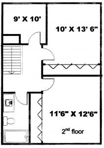 Colonies 3 Bedroom Townhouse Floor 2