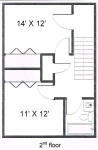 Colonies 2 Bedroom Townhouse Floor 2